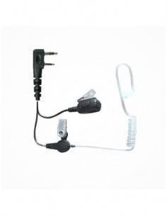 JETFON JR-1802 Micro Auricular Para KENWOOD Tubo Acustico Transparente