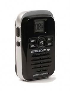 DYNASCAN 1D Emisora mini Portatil FM UHF PMR-446 Negra miniatura y sin antena de goma