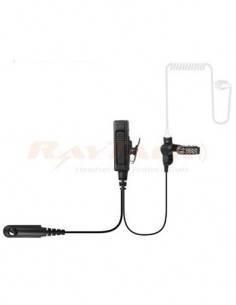 NSTHK EM-4238/K1 Micro Auricular Rizado Transparente Para Kenwwod, ptt reforzado